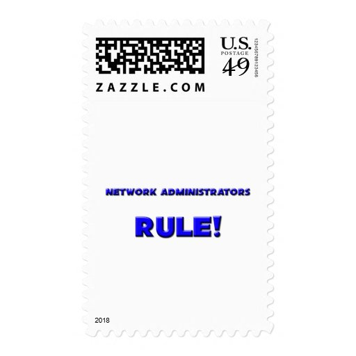 Network Administrators Rule! Postage Stamp