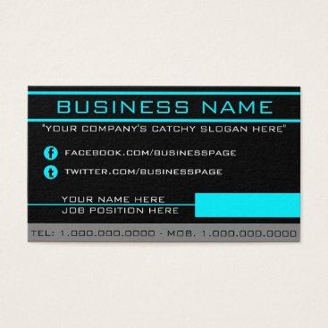 Professional Business Network Aqua Business Card
