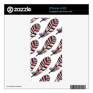 Network Aztec Feathers pattern Skin For The iPhone 4S