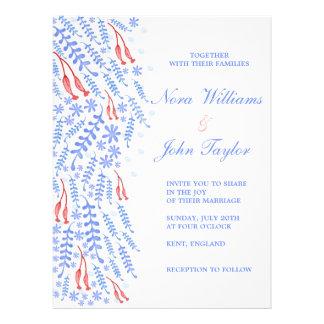 Network & Blue Wedding Invitation