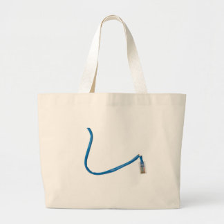 Network cable cut tote bags