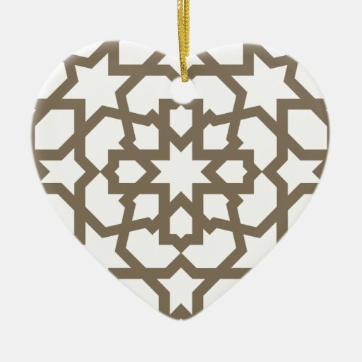 Network color gold of mosaic of Moroccan geometry