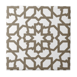 Network color gold of mosaic of Moroccan geometry  Tile