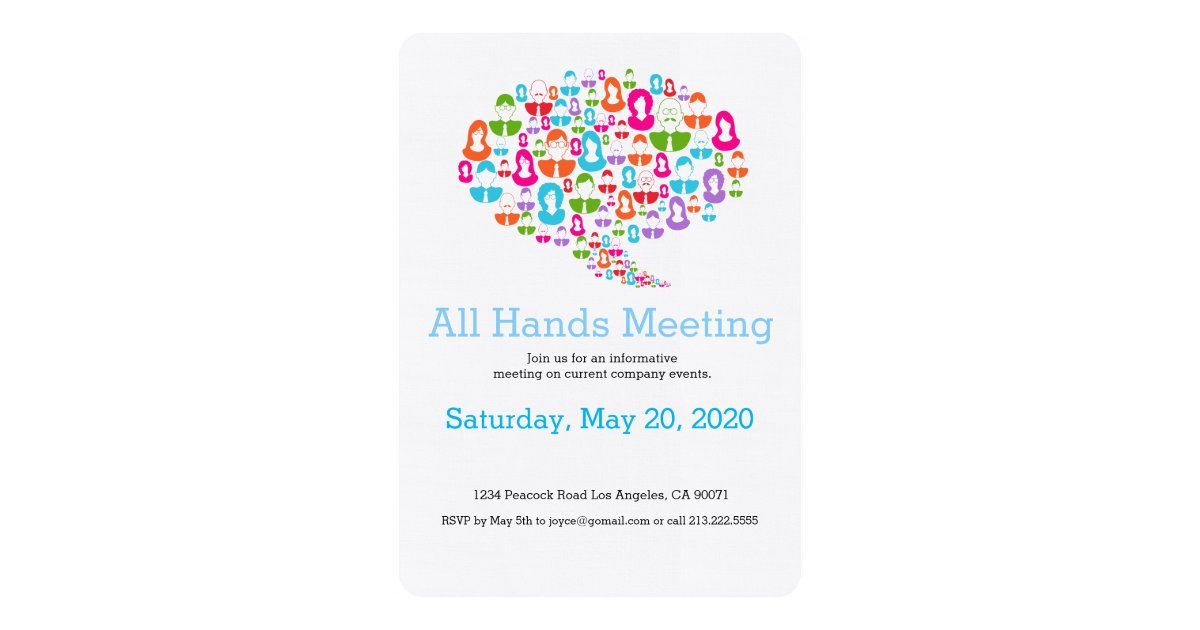 Network Communication Team Meeting Invitation Zazzle Com