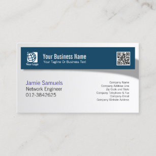 Computer network engineer business cards zazzle network engineer it technical skills shadow banner business card colourmoves