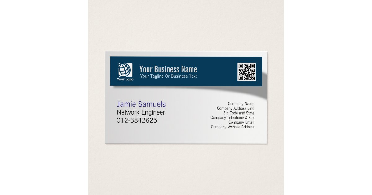 Network Engineer IT Technical Skills Shadow Banner Business Card ...