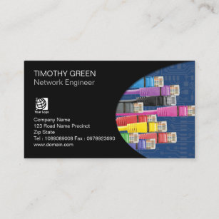 Network cable business cards templates zazzle network engineer technical colored computer cables business card colourmoves