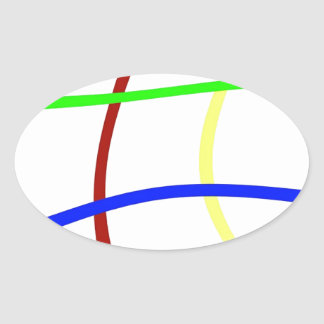 Network Images Oval Sticker