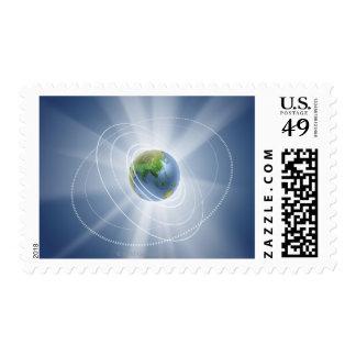 Network Lights Stamp