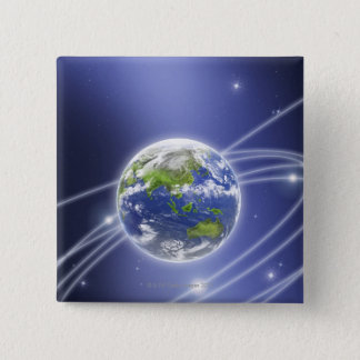 Network Lights Surrounding Earth 2 Button