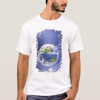 Network Lights Surrounding Earth 2 T-Shirt