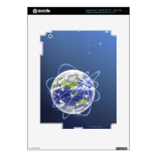 Network Lights Surrounding Earth Decals For iPad 3