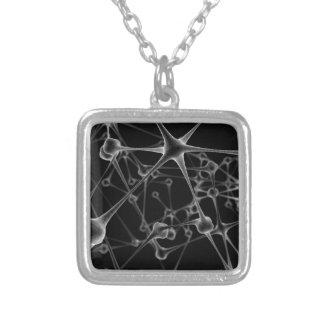 Network Neurons Square Pendant Necklace