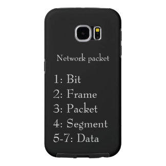 Network Packet Black and Gray Samsung Galaxy S6 Case