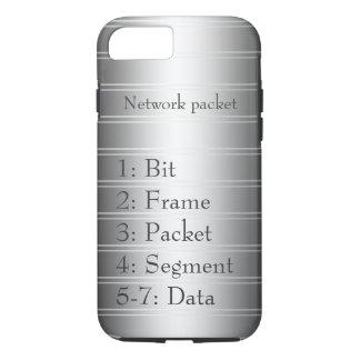 Network Packet Monochrome Pinstripe iPhone 8/7 Case