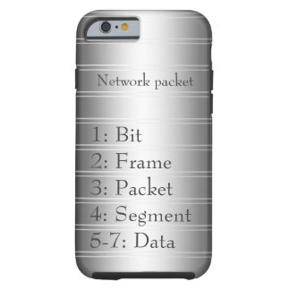 Network Packet Monochrome Pinstripe Tough iPhone 6 Case