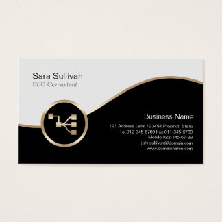 Network Points Icon SEO Consultant Business Card