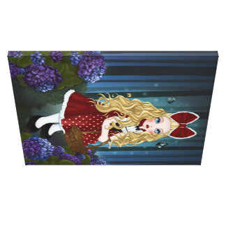 network riding hood canvas
