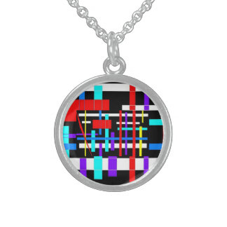 Network Round Pendant Necklace