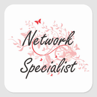 Network Specialist Artistic Job Design with Butter Square Sticker