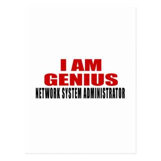 NETWORK SYSTEM ADMINISTRATOR DESIGNS POSTCARD