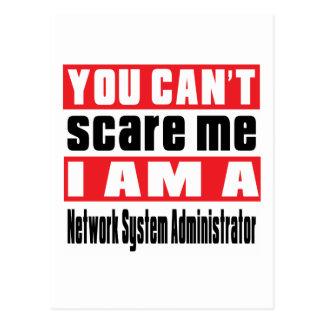 Network System Administrator scare designs Postcard