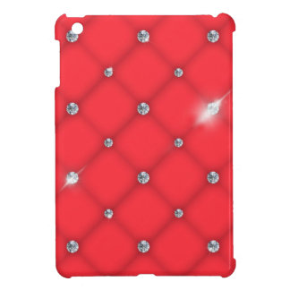 Network to leather upholstery with diamonds cover for the iPad mini