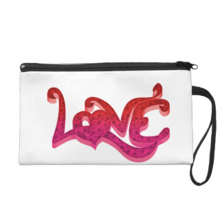 Network to pink Love Wristlet Purse
