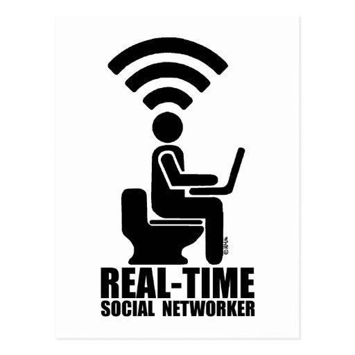 Networker social en tiempo real postales