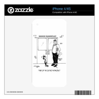 Networking Cartoon 3011 Skins For iPhone 4