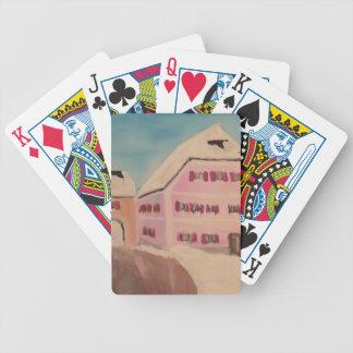 Neubeuern-Pfarrhaus im Winter Bicycle Playing Cards