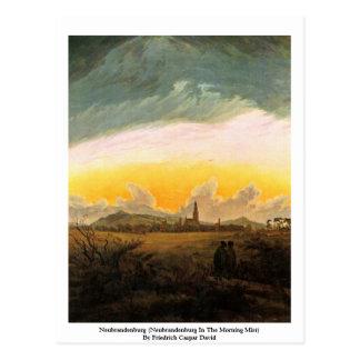 Neubrandenburg (Neubrandenburg In The Morning Mist Postcard