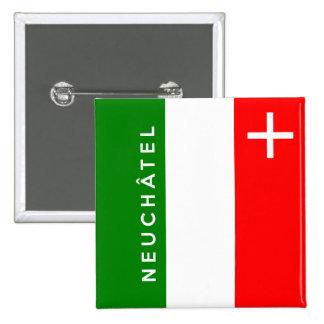 Neuchatel province Switzerland swiss flag text Button