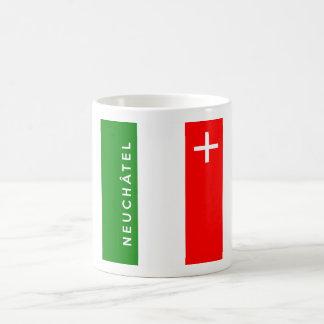 Neuchatel province Switzerland swiss flag text Coffee Mug