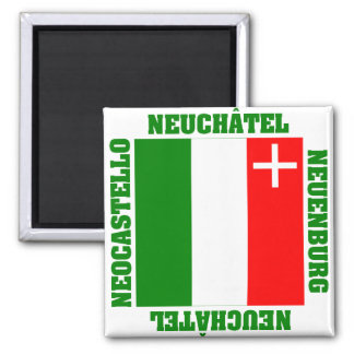 Neuchatel Switzerland Canton Flag Magnet