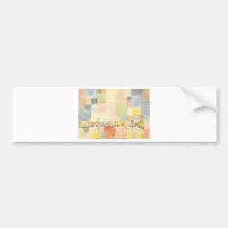 Neuer Stadtteil in M by Paul Klee Bumper Sticker