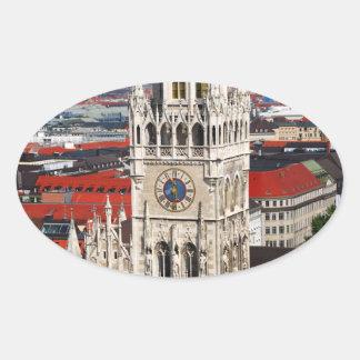 Neues Rathaus, Munich Oval Sticker