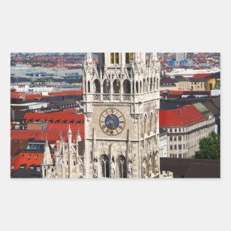 Neues Rathaus, Munich Rectangle Sticker