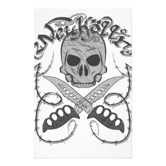 Neukölln Skull logo Personalized Stationery