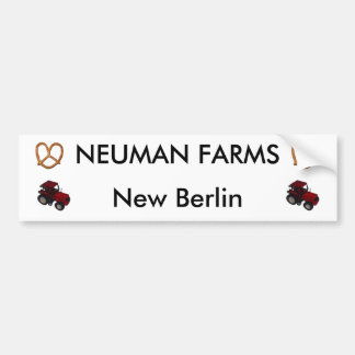 neuman farms bumper sticker