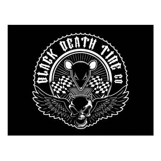 Neumático Co. de la muerte negra Tarjeta Postal