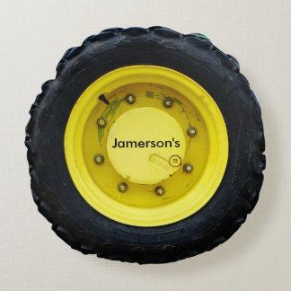 neumático conocido personalizado amarillo de la cojín redondo