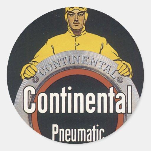 Neumático continental pegatina redonda
