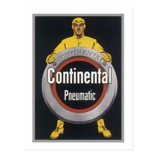 Neumático continental tarjeta postal