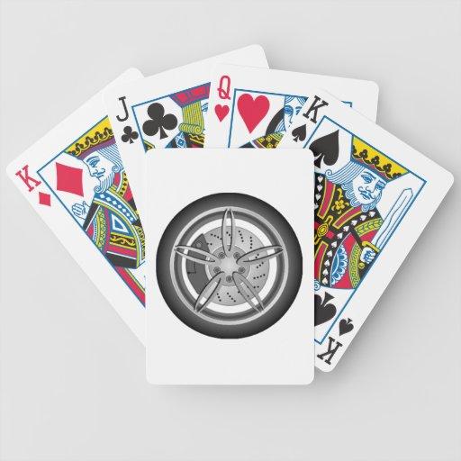 Neumático de coche baraja cartas de poker