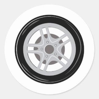 Neumático de coche pegatina redonda