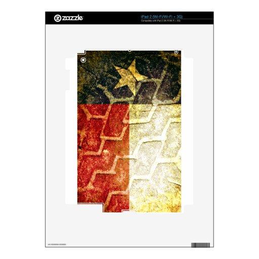Neumático del fango de la bandera de Tejas Calcomanía Para iPad 2