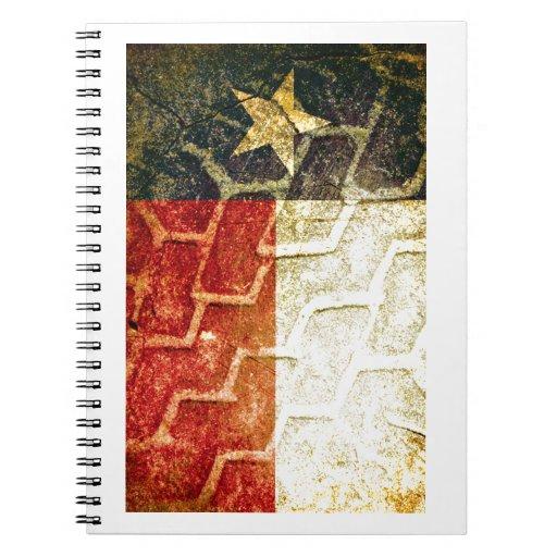 Neumático del fango de la bandera de Tejas Libros De Apuntes