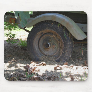 Neumático rústico del barco tapete de ratón