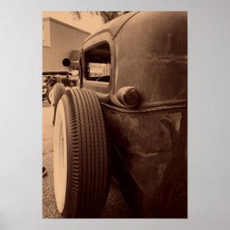 Neumático trasero póster